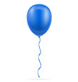 celebratory blue balloon pumped helium with vector image vector image