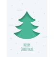 Christmas card with a green background in the vector image vector image