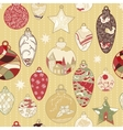 Christmas hand-drawn pattern with balls vector image vector image