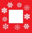 christmas snowflake frame vector image vector image