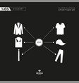 classic suits and sportswear products vector image vector image