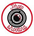 Color vintage photographer emblem vector image vector image