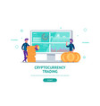 concept for cryptocurrency trading vector image