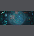 control center hud vector image vector image