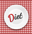 diet plate vector image vector image