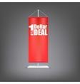 dollar deal vertical red flag at pillar vector image vector image