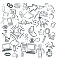 Doodle icon design cartoon icon draw concept vector image vector image