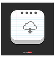 download icon gray icon on notepad style template vector image vector image