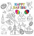 easter traditional symbols collection vector image