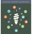 ecological flat design composition with long sha vector image vector image