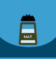 flat icon design collection salt shaker vector image vector image