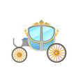 Flat icon of royal horse-drawn carriage