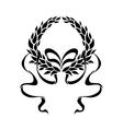 Foliate laurel wreath with long trailing ribbons vector image vector image