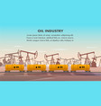 freight railcar for oil industry transportation vector image vector image