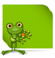 Frog and green background vector image vector image