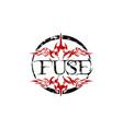 fuse letter logo design template vector image