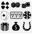 Gambling and casino flat icons vector image vector image