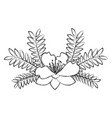 garden flowers decorative icon vector image vector image