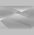 geometric white and gray abstract background vector image vector image