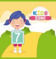 girl boy kids zone vector image vector image