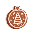 glazed gingerbread in the shape of christmas tree vector image vector image