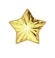 gold five pointed star isolated on white vector image