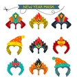 Gorgeus Set of colorful mask christmas monkey vector image vector image