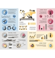 Gym Fitness Infographics Set vector image vector image