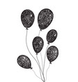 Hand drawn doodle balloons vector image