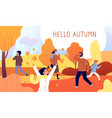 hello autumn banner yellow november season style vector image vector image