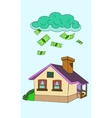 house falling money vector image vector image