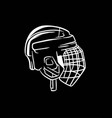 Ice hockey helmet black and white