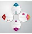 infographics of circle vector image