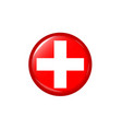 medical cross logo vector image vector image