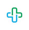 medical logo design icon vector image vector image