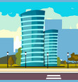 modern big hight skyscrapers town vector image