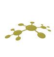 molecular network vector image vector image