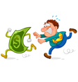 money chase vector image