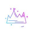 mountain icon design vector image vector image