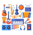 musical instruments - colorful flat design style vector image