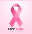 october breast cancer awareness month in vector image