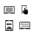 online university simple related icons vector image vector image