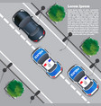 police chase vector image vector image