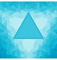 polygonal blue background vector image vector image