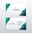 professional clean business card design vector image vector image