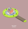 real estate search flat isometric concept vector image vector image