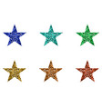 red green blue and yellow stars vector image vector image