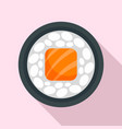 salmon sushi roll icon flat style vector image