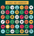 science and laboratory icon set trendy flat icons vector image vector image