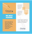 screw driver company brochure title page design vector image vector image